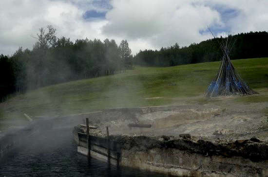 Tsenkher Jiguur is known for its hot springs