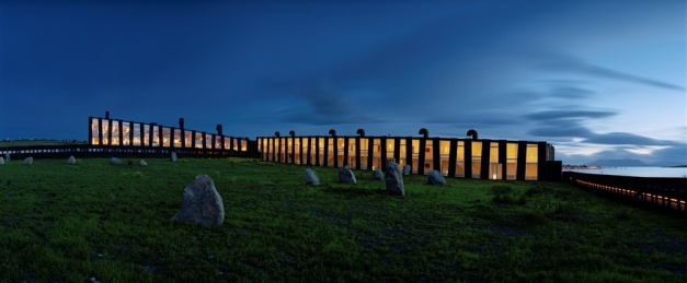 Exterior view of Remota, a luxury property inPatagonia near Puerto Natales (Chile)