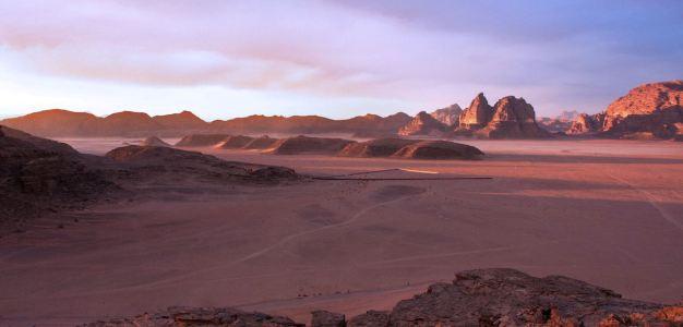 Wadi Rum is a favourite tourist destination