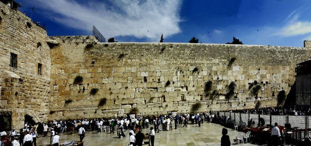 The Wailing Wall is a much visited site in Jerusalem