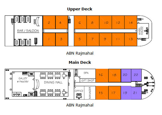 ABN Rajmahal Deck Plan