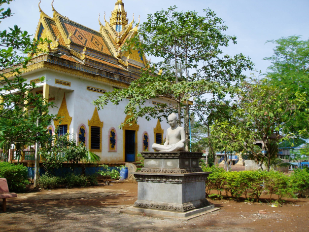 Buddhist Temple, Along Mekong, Cambodia