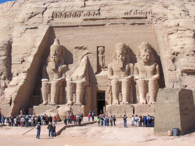 The Temple of Ramses at Abu Simbel