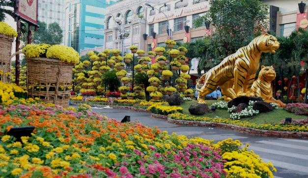 Nguyen Hue Tet Flower Street during a previous Lunar New Year
